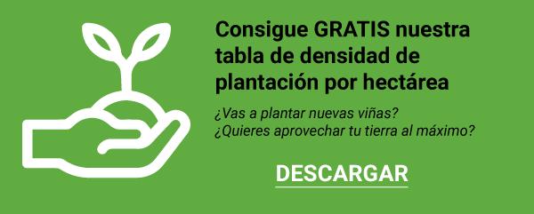 Tabla densidad plantación por hectarea